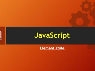 Как изменить стили элемента с помощью свойства Element.style в JavaScript